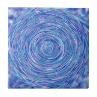 An Abstract Swirl of Color in Blue and Purple Tile