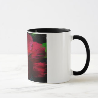 An abstracted photo of a red Chinese hibiscus flow Mug