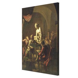 An Academy by Lamplight, c.1768-69 (oil on canvas) Canvas Print