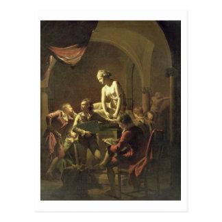 An Academy by Lamplight, c.1768-69 (oil on canvas) Postcard