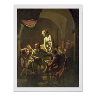 An Academy by Lamplight, c.1768-69 (oil on canvas) Poster