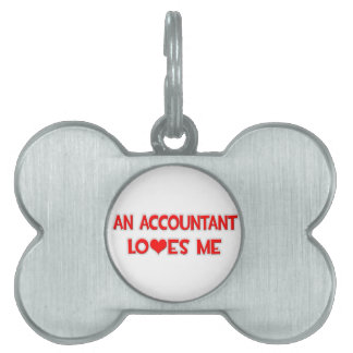 An Accountant Loves Me Pet Name Tags