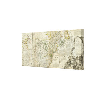An Accurate Map Of North America Northern section Canvas Print