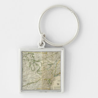 An Accurate Map Of North America Northern section Keychain