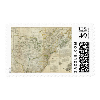 An Accurate Map Of North America Northern section Postage