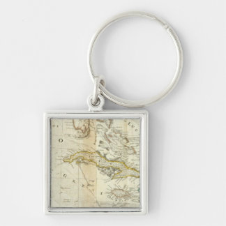 An Accurate Map Of North America Southern section Keychain