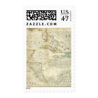 An Accurate Map Of North America Southern section Postage