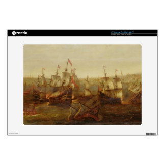 "An Action between Spanish Ships and Barbary Galley 15"" Laptop Decal"