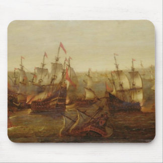 An Action between Spanish Ships and Barbary Galley Mouse Pad