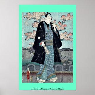 An actor by Utagawa, Toyokuni Ukiyoe Print