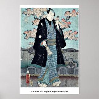 An actor by Utagawa, Toyokuni Ukiyoe Posters