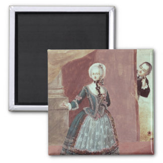 An Actress in the Role of Rosine 2 Inch Square Magnet