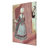 An Actress in the Role of Rosine Canvas Print