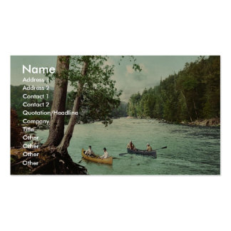An Adirondack mountain stream classic Photochrom Business Card
