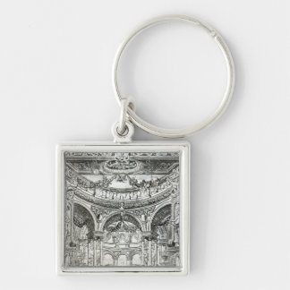 An Admission Ticket for Handel's oratorio Silver-Colored Square Keychain