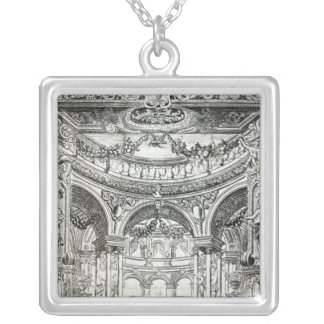 An Admission Ticket for Handel's oratorio Square Pendant Necklace