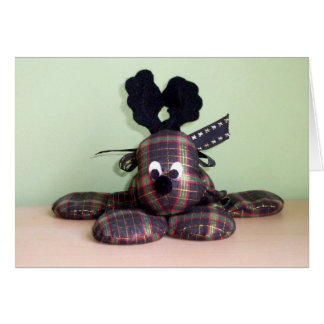 An Adorable Reindeer Soft Figurine Greeting Cards