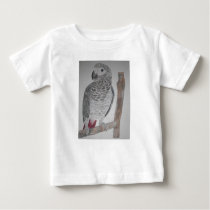 An adorable young African Grey Parrot Baby T-Shirt