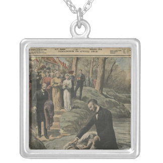 An Adventist baptism in La Marne Silver Plated Necklace