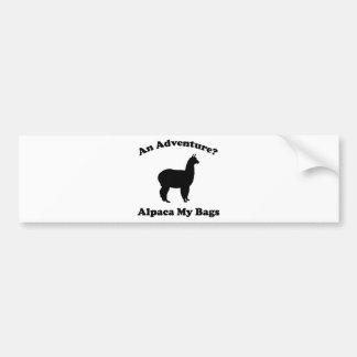 An Adventure? Alpaca My Bags Bumper Sticker