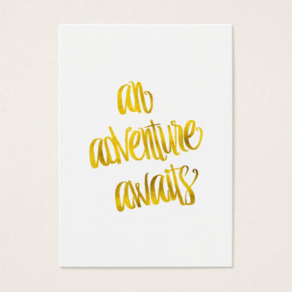 An Adventure Awaits Quote Gold Faux Foil Quotes Business Card