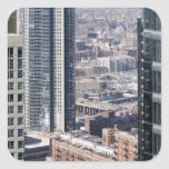An aerial view of Chicago, looking northwest 2 Square Stickers