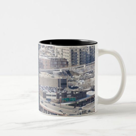 An aerial view of Chicago, looking northwest 2 Two-Tone Coffee Mug