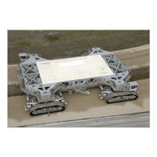 An aerial view of the crawler-transporter photographic print