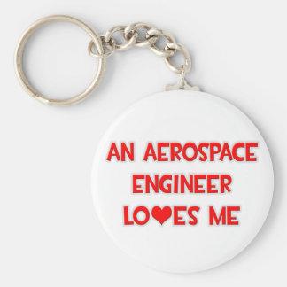 An Aerospace Engineer Loves Me Basic Round Button Keychain