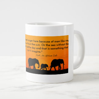 An Africa Tale Zack Quote Large Coffee Mug