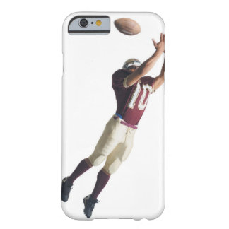 an african american football player in a red and barely there iPhone 6 case