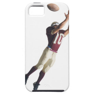 an african american football player in a red and iPhone SE/5/5s case