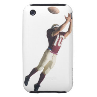 an african american football player in a red and tough iPhone 3 cases