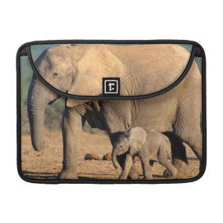 An African Elephant mother and calf on the move Sleeve For MacBooks