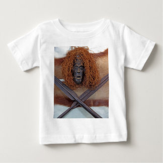 An African mask with a spear on an antelope coat. Baby T-Shirt