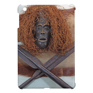 An African mask with a spear on an antelope coat. iPad Mini Cover