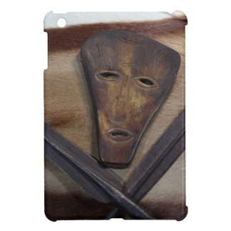 An African mask with a spear on an antelope skin. iPad Mini Case