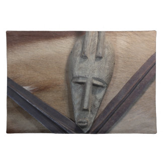 An African mask with a spears Cloth Placemat