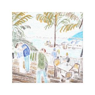 An Afternoon at Wahoos Canvas Print