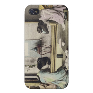 An Afternoon Call, c.1880 (hand coloured albumen p iPhone 4 Cover