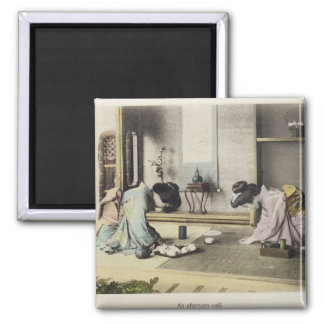 An Afternoon Call, c.1880 (hand coloured albumen p Magnet
