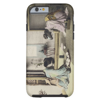 An Afternoon Call, c.1880 (hand coloured albumen p Tough iPhone 6 Case