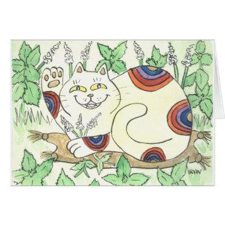 An Afternoon Catnip Break for the Rainbow Neko Card