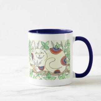 An Afternoon Catnip Break for the Rainbow Neko Mug