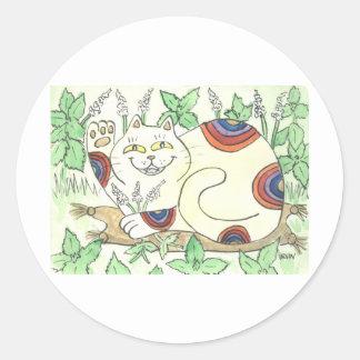 An Afternoon Catnip Break for the Rainbow Neko Stickers