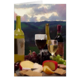 An Afternoon in Wine Country Greeting Card