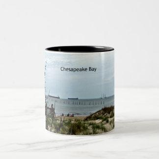 An afternoon on the Chesapeake Bay Two-Tone Coffee Mug