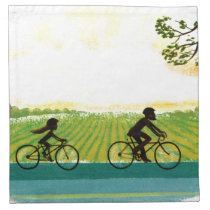 An Afternoon Ride Cloth Napkin