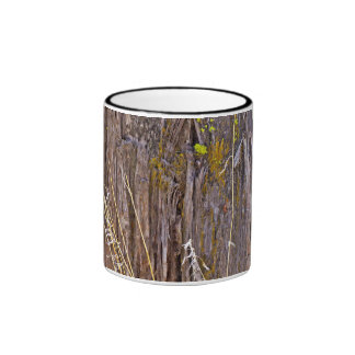 An Aged Tree Stump In The Woods Ringer Coffee Mug