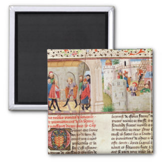 An Agreement and the Building of a Castle 2 Inch Square Magnet
